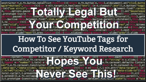 How to See Youtube Competitor Meta Tags and Keywords